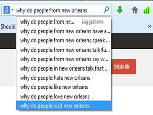What do people from new orleans..........